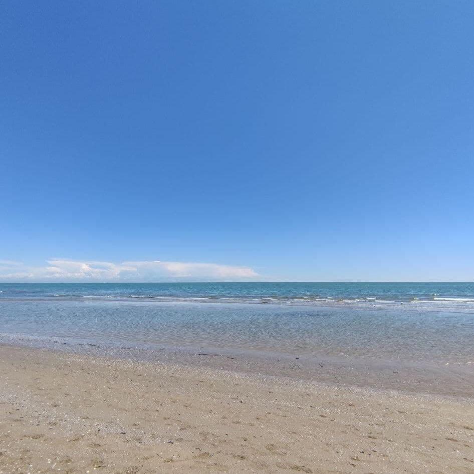 Jesolo sea view from the beach
